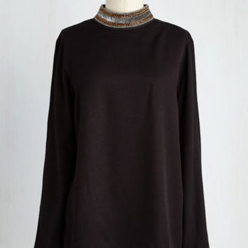 Mid-length Long Sleeve Meant to Bedeck Top