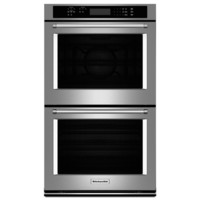 Shop KitchenAid Self-Cleaning Convection Double Electric Wall Oven (Stainless Steel) (Common: 30-in; Actual: 30-in) at Lowes.com