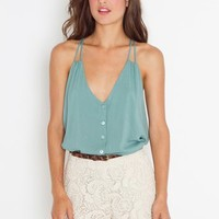 Button Up Tank - Mint