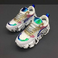Balenciaga Triple-S Dad Torre Sneakers Patent Leather Women Trainers Fashion Casual Sports Running Shoes