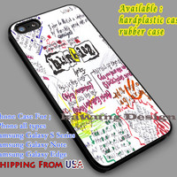 Blink 182 Lyrics iPhone 6s 6 6s+ 6plus Cases Samsung Galaxy s5 s6 Edge+ NOTE 5 4 3 #music #b182 dl4