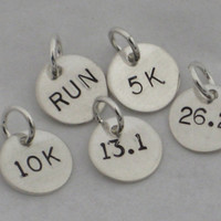 ONE 1 Sterling Silver RUN 5k 10k 131 or 262 Hand by TheRunHome