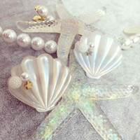 Mermaid Shells Barette Clips from MILK CLUB