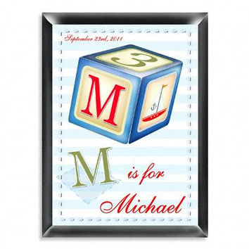 Personalized Sailor Boy Room Sign - Personalized Gifts - Engraved Signs - Baby Gifts
