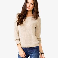 Open Knit V Sweater