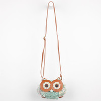 Owl Fringe Crossbody Bag Mint One Size For Women 21920352301