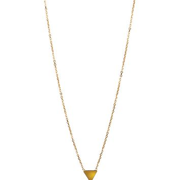 Adina Reyter Super Tiny Solid Triangle Necklace