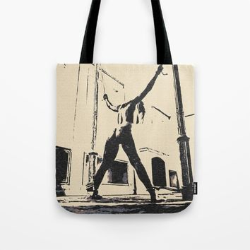 Bad girls deserve punishment, sweet sweet pain, BDSM, bondage, dark whipping pose, sexy girl nude Tote Bag by Peter Reiss