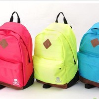 colorful Neon simple style Canvas Backpack