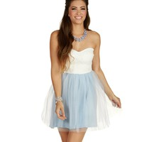 Sale-lt. Blue Darling Tulle On The Block Dress