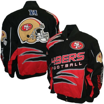 San Francisco 49ers Shred Cotton Twill Jacket – Black