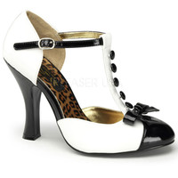 Pinup Couture Black and White Smitten Pumps