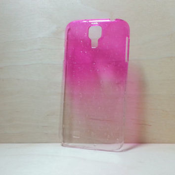 Samsung Galaxy S4 3D Water Droplets Hard Plastic Case - Rose Pink