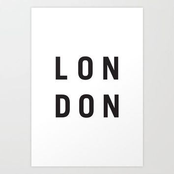 LONDON Art Print by New Wave Studio