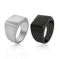 Fashionable simple easy-matching cool stainless steel ring