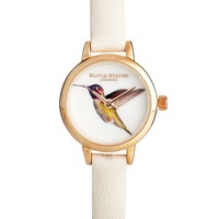 Olivia Burton Cream Hummingbird Woodland Watch