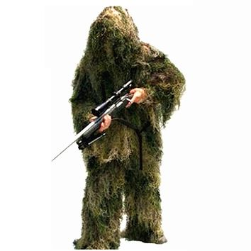 Camouflage Hunting Ghillie Suits 3D Bionic Airsoft Uniform Sniper Hunting Clothes Sportswear Ghillie Suits Clothing for Hunting