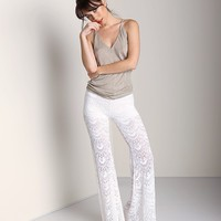 Nightcap Spanish Fan Lace Pant White CP232  at Largo Drive Underwear & Swimwear