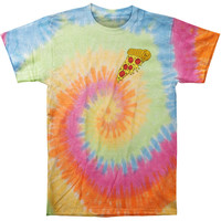 Stay Sick Clothing Men's  Pizza Tie Dye T-shirt Multi
