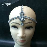 HC-103 Diamante head band hair jewelry wedding bridal head Jewelry birthday boho