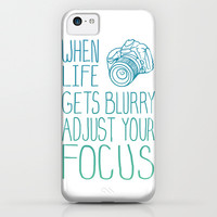 When Life Gets Blurry Adjust Your Focus! iPhone & iPod Case by LookHUMAN