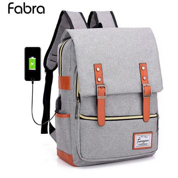 New Men & Women Backpacks USB Charging Laptop Backpack for Teenagers Large Capacity Student School Bag Unisex Rucksack Mochila