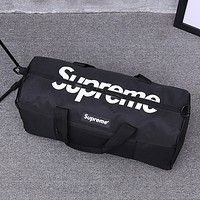 Supreme Trending Fashion Casual Women Men Travel bag Carry-on bag luggage Tote Handbag Black G