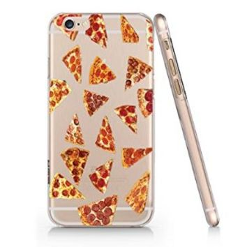 Pizza Fries French Fast Food Slim Pattern Iphone 6 Case, Clear Iphone 6 Hard Cover Case (For Apple Iphone 6 4.7 Inch Screen)-Emerishop (AH943)