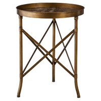 Threshold™ Stamped Metal Accent Table - Gold