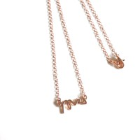 Rose Gold Mrs Chain Necklace Wedding Gift Monogram Bridal Jewelry