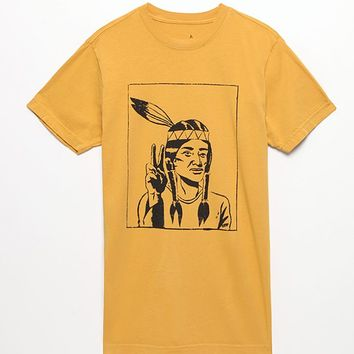Altamont How Many T-Shirt - Mens Tee - Gold