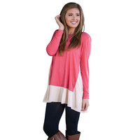 Block Loose Long-Sleeve Shirt