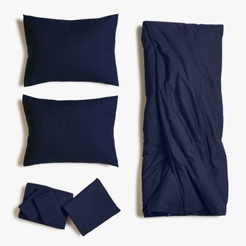 Deep Blue Cotton Duvet Bed Set