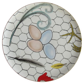 Fornasetti-Style Wall      Plate