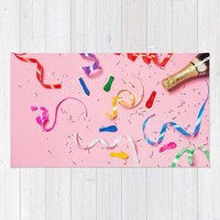 Birthday Collection: Pink Rug, Champagne Rug, Accent Rugs, Pink Area Rug, Living Room Rug, College Dorm Rug, Pink Birthday Decor, Fun Rug