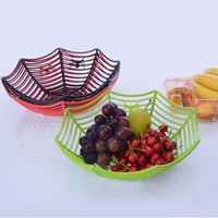 Plastic Spider Web Fruits Candy Basket Creative Spiderweb Bowl Halloween Party Decor 2018 Halloween decoration Party Supplies
