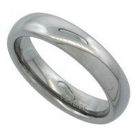 5mm Tungsten 900 TM Wedding Ring Domed for Him & Her High Polish Comfort fit, sizes 5 to 15