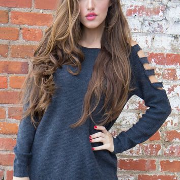 In the City Sweater - Gray - Final Sale