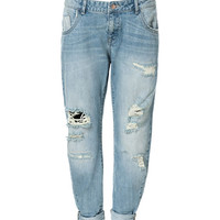 RIPPED BOYFRIEND JEANS - Jeans - Woman | ZARA United States