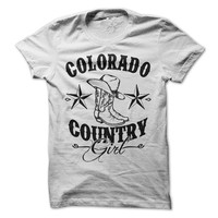 Colorado Country Girl Shirt Redneck Line Dancing Cowboy Boots Womens Ladies Girls T-Shirt Tee Shirt