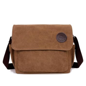 Korean Stylish Casual Canvas Shoulder Bag [10648211395]