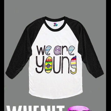 We are young hand print women baseball shirt 40417
