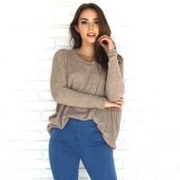 Karat Pocket Knit Sweater Top