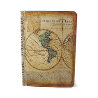 Travel Journal Old World Map Mini Vintage Inspired by Istriadesign