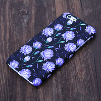 Elegant Chic Black Floral Pattern iPhone 6S case 6S Plus/6/5S/5C/5 Protective Case #561