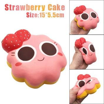 Binmer 15cm Cartoon Strawberry Cake Squishy Slow Rising Cream Scented Decompression Toy - Walmart.com
