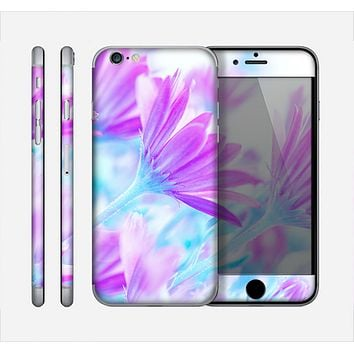 The Vibrant Blue & Purple Flower Field Skin for the Apple iPhone 6