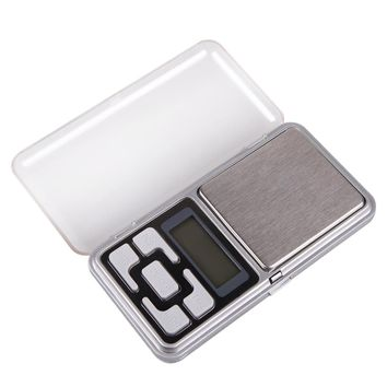 Portable 200g x 0.01g Mini Digital Scale Jewelry Pocket Balance Weight LCD Display with Blue Backlight for Precise Weighing