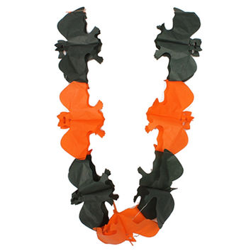 Hot Sale Garlands Halloween Paper Decoration Outdoor Pumpkin Bat Ghost Skull Skeleton Ghost Letter Happy Halloween Shape