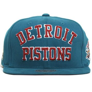 Detroit Pistons NBA Wordmark Snapback Hat Teal
